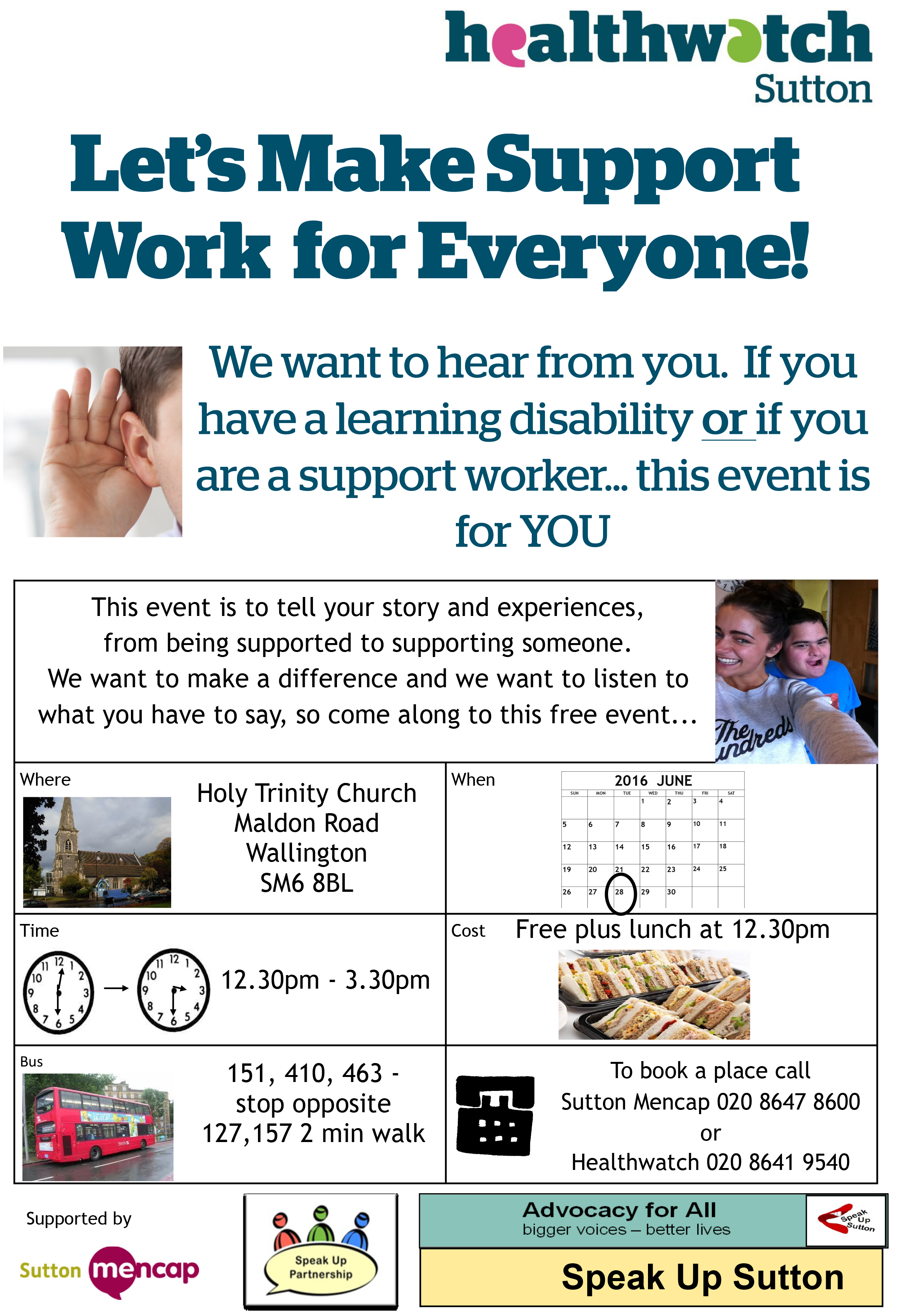 Let make support work flyer